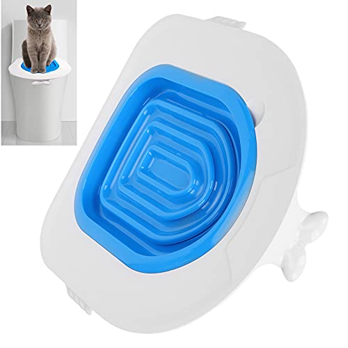 Asiento para urinario para Mascotas, 5 Piezas de ABS para Gatos, diseño de Ranura para Herramientas de Entrenamiento para inodoros, para inodoros de Varios tamaños y Formas
