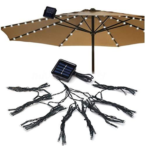 Yliquor 72LED Patio Umbrella Lights Waterproof Outdoor String Lights Solar White