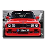 baiyinlongshop Plakate Und Drucke BMW E30 M3 Rot Cool