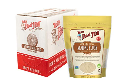 Bob's Red Mill Resealable Super-Fine Almond Flour, 16 Ounce (Pack of 4)