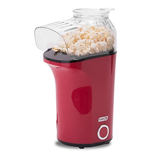 Lowest Prices! DASH Popcorn Machine: Hot Air Popcorn Popper + Popcorn Maker with Measuring Cup to Me...