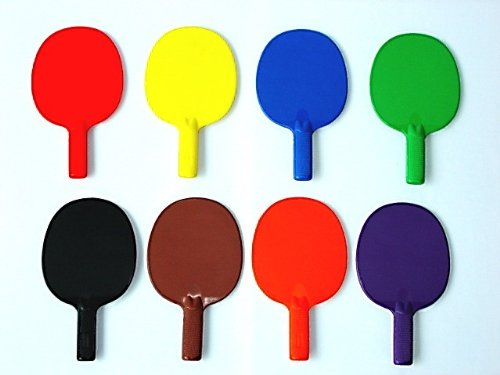Find Discount Plastic Ping Pong Paddle - set of 6 colors, 10 L