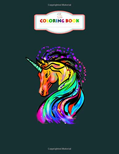 Coloring Book: cute colorful rainbow unicorn lover gif - For Kids Aged 2-8 100 pages 8.5x11 inches