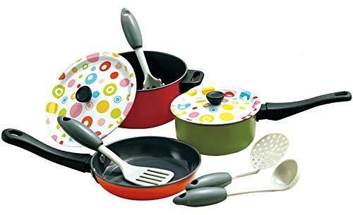 Kochtopf Set Metall mit Zubehör für die Spielküche Dekor Line