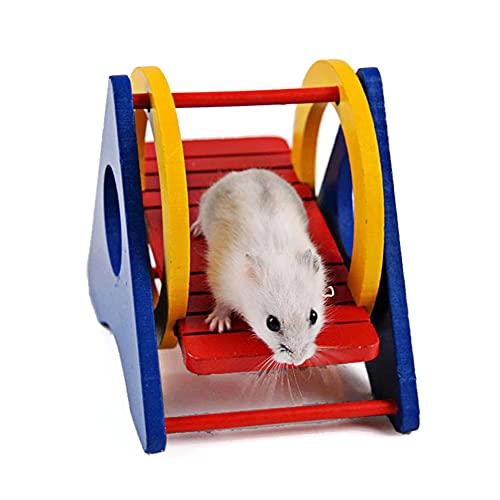 OmeHoin, giocattoli per criceti, dondolo arcobaleno, porcellino d'India, per aumentare il divertimento della vita, esercizio, adatti per animali di piccola taglia