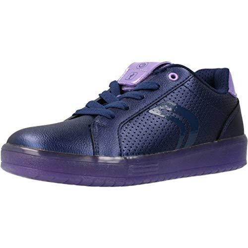 Geox Mädchen J KOMMODOR Girl A Sneaker, Blau (Navy/Violet C4267), 32 EU
