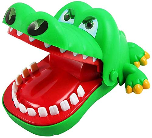 Sharkdogteethtoysbitingfingertoyskidsdentistgametoy,Crocodilebitingfingergame,MouthTooth Alligator Hand Children's Toys Family Games Classic Biting Hand Crocodile Game (green)