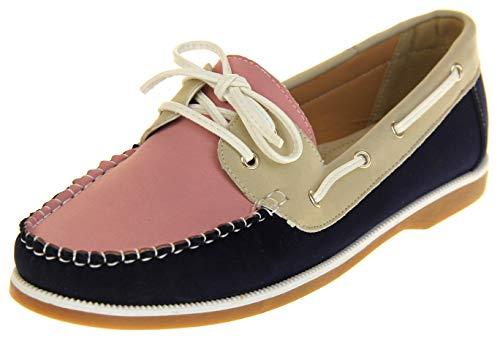 Shoreside Footwear Studio Shoreside Damen Geschlossen Marinenblau/Rosa/Beige EU 37