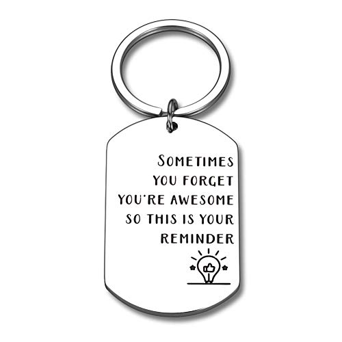 Funny Inspirational Birthday Christmas Keychain Gifts for Friend BFF Boys Girls Student Thank You Gift for Women Men Coworker Boss Graduation Gift for Daughter Son from Dad Mom Thanksgiving Key Chain