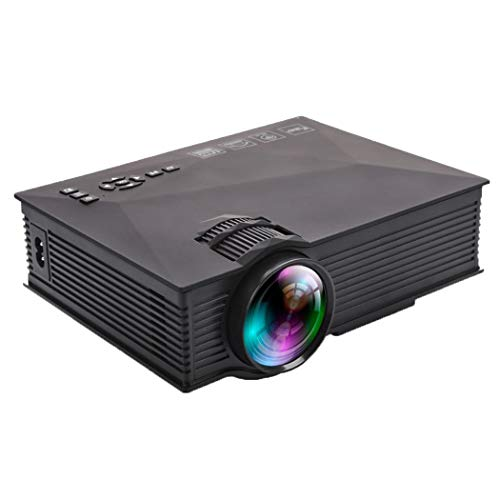 ZYN-RN Projektor-Mini-Uc46-Micro-Projektor-Wifi-Haus, das mit 1080P für Heimkino-Multimedia-Heimkino-Film-Projektor-Heimkino-Unterhaltungs-Partyspiele kompatibel ist,Black