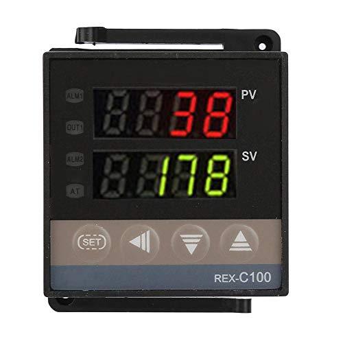 Controlador de temperatura, 0 ℃ ~ 1300 ℃ Kits de termostato de alarma con PID LED digital (AC110V-240V, REX-C100)