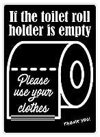 トイレットロール メタルポスタレトロなポスタ安全標識壁パネル ティンサイン注意看板壁掛けプレート警告サイン絵図ショップ食料品ショッピングモールパーキングバークラブカフェレストラントイレ公共の場ギフト