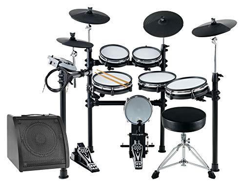 XDrum DD-530 MAXI LIVE KIT E-Drum Set - elektronisches Schlagzeug mit 400 Sounds und Lernfunktion - 4 Pads mit Mesh Heads - 4 Beckenpads - inkl. Drum-Monitor, Hocker und Kabel