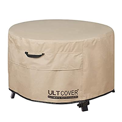 ULTCOVER Waterproof Square & Round Patio Fire Pit Cover for Outdoor Fire Pit Table Bowl