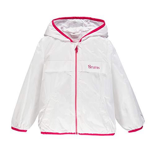 Brums Giubbino Antivento Tess. Eco Cappotto, Multicolore (Bianco/Fucsia 01 906), 128 (Taglia Unica: 8A) Bambino