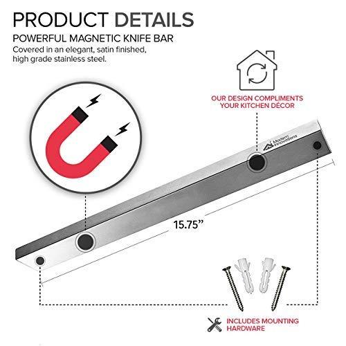 Modern Innovations 16 Inch Stainless Steel Magnetic Knife Bar