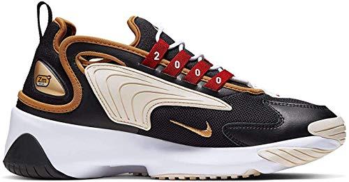 Nike Damen WMNS Zoom 2K Laufschuhe, Schwarz (Black/Metallic Gold/White/Sail 005), 40.5 EU