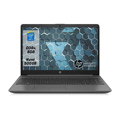 "Hp 250 g7 Notebook Pc portatile intel core i3-1005G1, Ram 8Gb Ddr4,Ssd M.2 500 Gb ,Display 15.6""Hd antiriflesso,Windows 10 Professional"