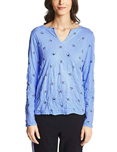 Cecil Damen Vienna Langarmshirt, Mehrfarbig (Powder Blue 31389), X-Large (Herstellergröße: XL)