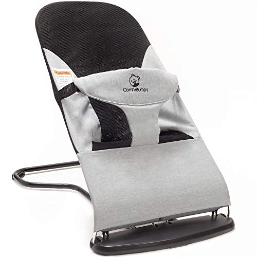 Ergonomic Baby Bouncer Seat - Bonus Travel Carry Case Included - Safe, Portable Rocker Chair with Adjustable Height Positions - Infant Sleeper Bouncy Seat Perfect for Newborn Babies by ComfyBumpy