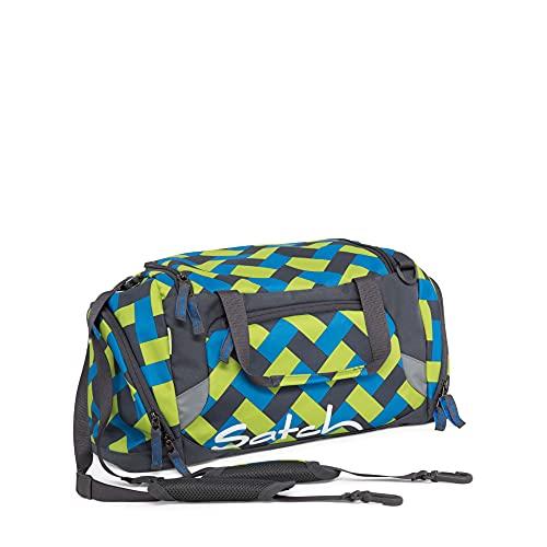 SATCH Chaka Curbs Cabas de Fitness, 50 cm, 25 liters, Bleu (Blue Green Bricks)