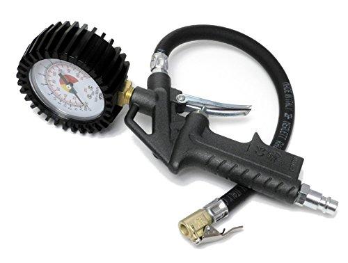 Bamax BX106D Pistola Gonfiaggio, Manometro Pressione gomme Pneumatici, Grigio