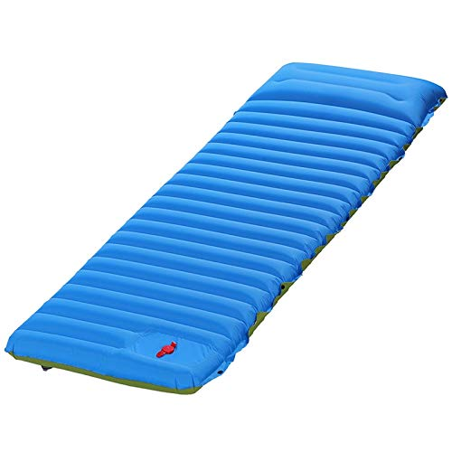 Esterilla Camping,Esterilla Hinchable Colchón de aire autoinflante ultraligero amplio almohadilla de dormir empalme al colchón inflable Campaña de campaña Cojín de aire ultraligera ( Color : Blue )