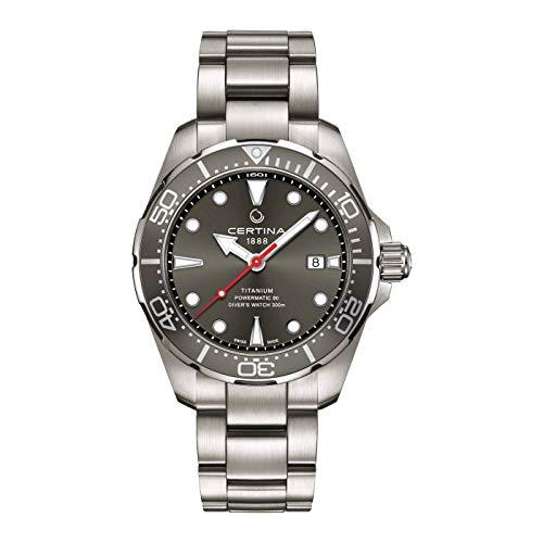 Certina DS Action Diver reloj automático de hombre con esfera gris C032.407.44.081.00