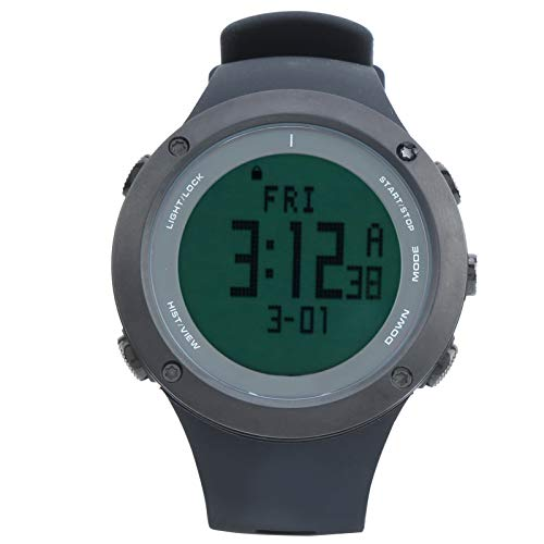 Alomejor Reloj de Snorkel Multifuncional 100M Impermeable Profundidad Deportes subacuáticos Reloj Impermeable(Negro)