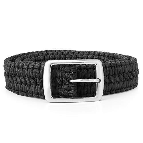 Divoti Outdoor Survival EDC Paracord Belt – Bold Black