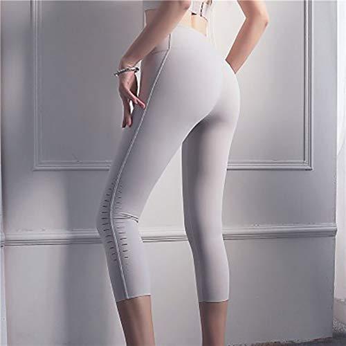 Beiziml Pantalones De Yoga De Cintura Alta Push Up Mujeres Color Sólido Sin Costura Hollow out Leggings Deportivos Fitness Mujer Pantalones Cortos Deportivos