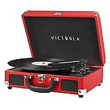 Victrola Vintage 3-Speed Bluetooth Portable Suitcase Record...