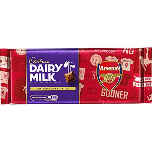 cadbury Dairy Milk Arsenal Football Club Edition Chocolate Gift Bar, 360 g
