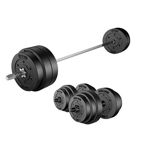 WFS Pesas Gimnasio 25KG Ajustable / 55lb Pesas Conjunto Negro Home Fitness Juego de Pesos de Entrenamiento de La Gimnasia Ejercicio de Entrenamiento con La Biela Musculación (Peso : 35Kg(17.5Kg*2))