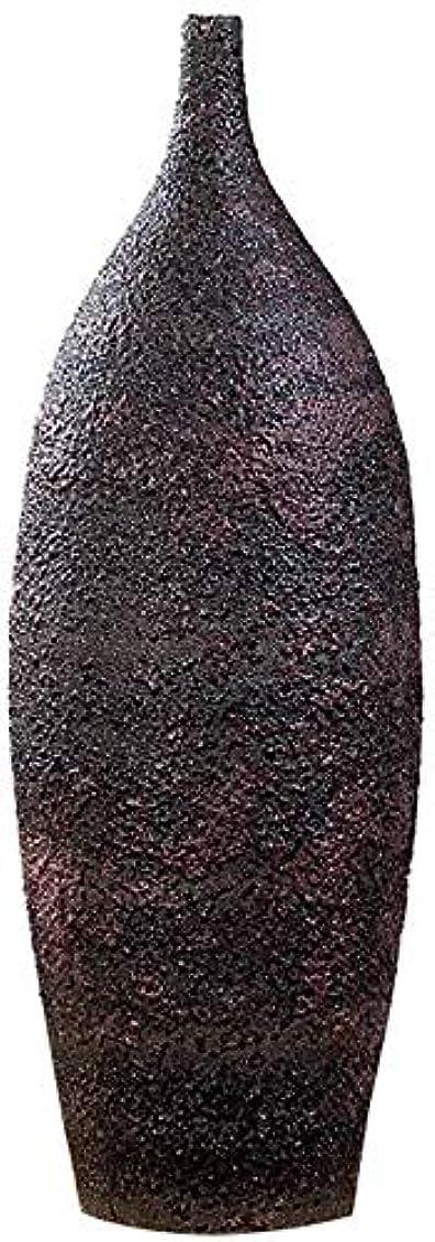 かび臭いウェイター放置花瓶 セラミック花瓶床表デュアル使用アンティークレトロマットブラック大規模オフィスのフラワーアレンジメントフェイクフラワー44 * 15センチメートル インテリア フラワーベース