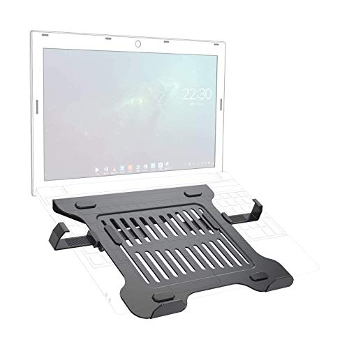 GIBBON MOUNTS Laptop Holder with Retractable Slide Clip, use with Monitor Stand, Hold up to 17.6lbs,fits Most Laptop/Tablet