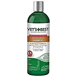 Vet's Best Flea and Tick Advanced Strength Dog Shampoo | Flea Treatment for Dogs | Flea Killer with Certified Natural Oils
