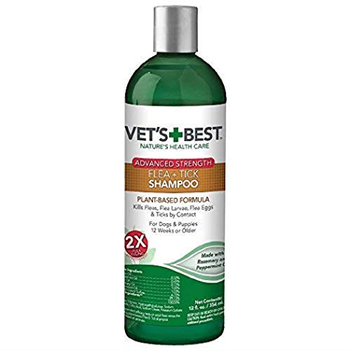 Vet Best Flea and Tick Advanced Strength Dog Shampoo | Flea Treatment for Dogs | Flea Killer with Certified Natural Oils | 12 Ounces
