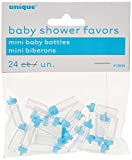 Babypartygeschenke - 2,5 cm - Blaue Babyflaschen aus Kunststoff - 24er-Pack