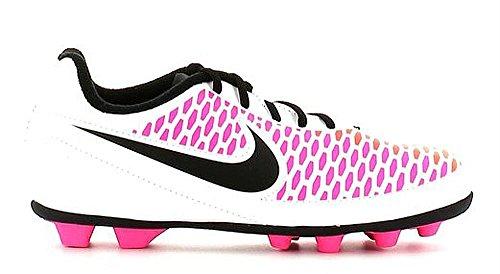 Nike Jr Magista Ola FG-R, Scarpe da Calcio Unisex-Bambini, Bianco, Nero, Rosa (Pink Blast), Giallo (Volt), 37.5 EU