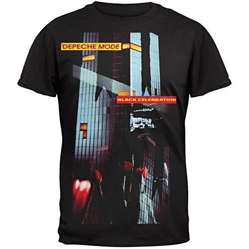 Qian Mu888 Herren Depeche Mode Band Photo Soft T-Shirt Gr. XL, Celebration Black