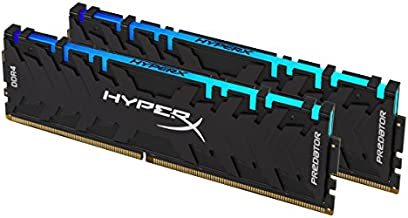 HyperX Predator DDR4 RGB 16GB 2933MHz CL15 DIMM(Kit of 2) XMP RAM Memory with Infrared Sync Technology Memory - Black (HX429C15PB3AK2/16)