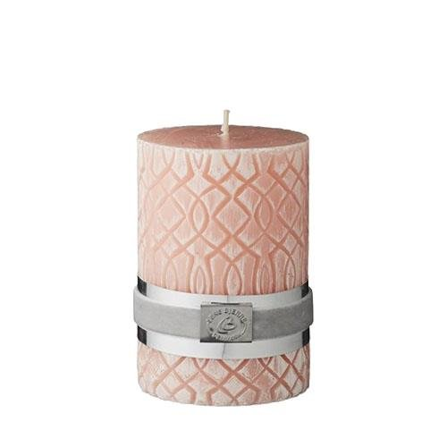 Lene Bjerre Beach Coral Carved Pillar Candle 10cm x 7cm