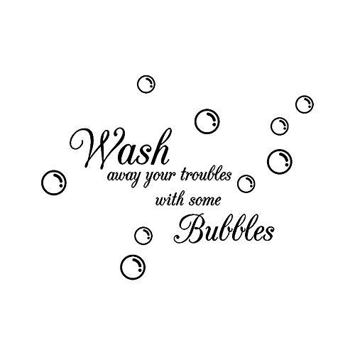 YIYEBAOFU fee kasteel muur stickers rouge, Wash bubbels verwijderbare kunst vinyl muurschildering huiskamer decoratie muur sticker slaapkamer decoratie deca