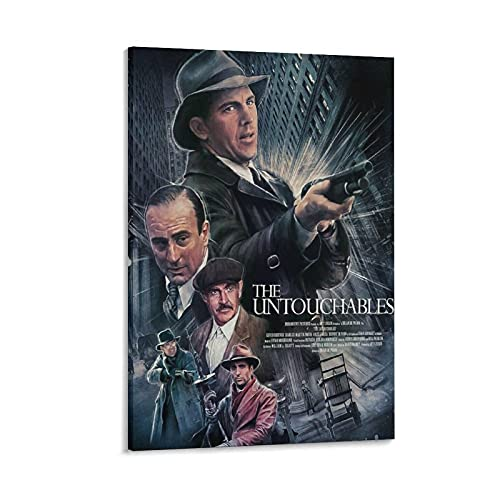 JKKFANS The Untouchables Movie Posters CL01 Poster Decorative Painting Canvas Wall Art Living Room Posters Bedroom Painting 16×24inch(40×60cm)
