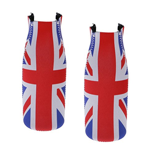 Blesiya Neoprenflaskor kylväska – UK flagga dekoration