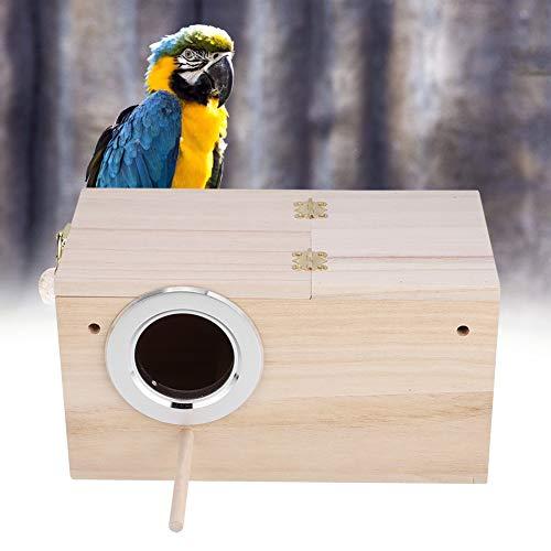 Sharainn Casa de cría de Aves con Soporte Caja de Jaula de pajarera para pájaros, 9.6x5.1x5.1in Caja de cría de Aves, para Loros para periquitos(Left Opening)