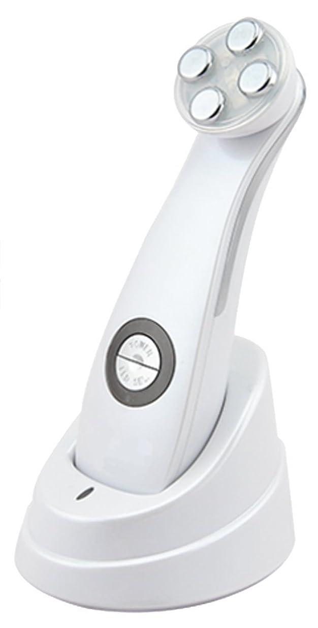 ルビー考古学的な不安定美顔器 Dr. Witch ビューティフェイスマシン ホワイト 軽量 1機5役 EMS メソポレーション エレクトロポレーション RF LED