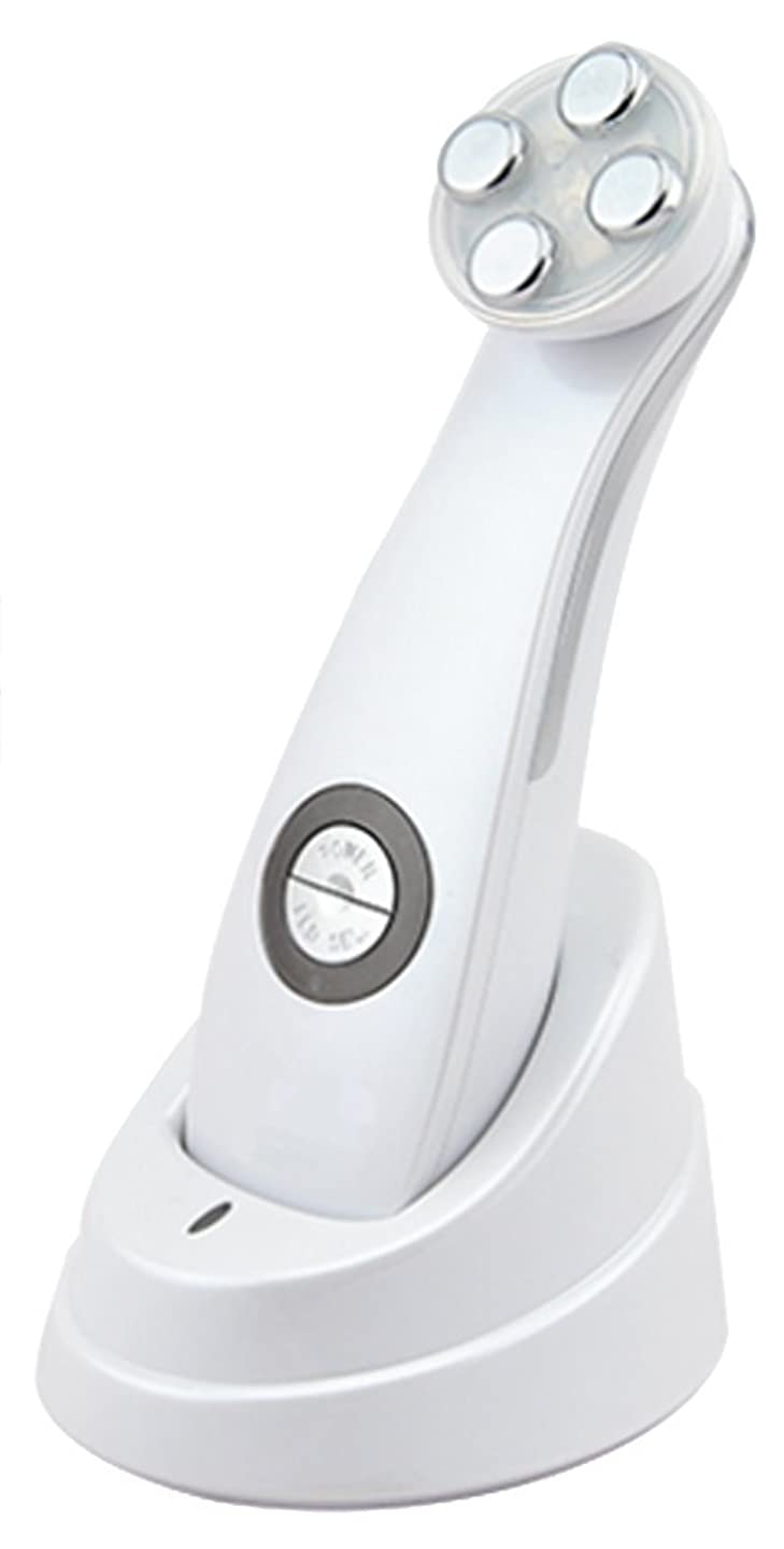 健康足首ひねくれた美顔器 Dr. Witch ビューティフェイスマシン ホワイト 軽量 1機5役 EMS メソポレーション エレクトロポレーション RF LED