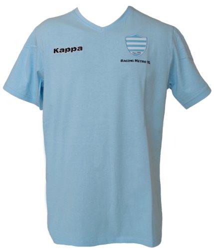 RACING METRO 92 Rugby-T-Shirt–offizielle Kollektion Kappa–Top 14–Größe Erwachsene Gr. M, blau